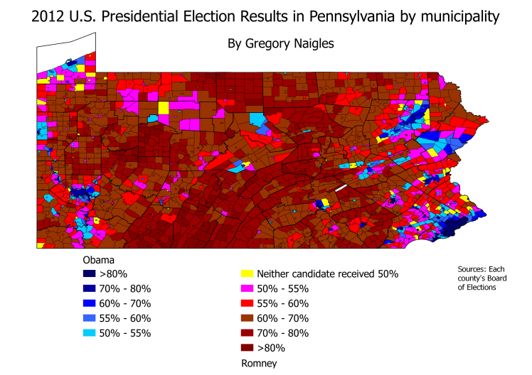 PA 12Pres results