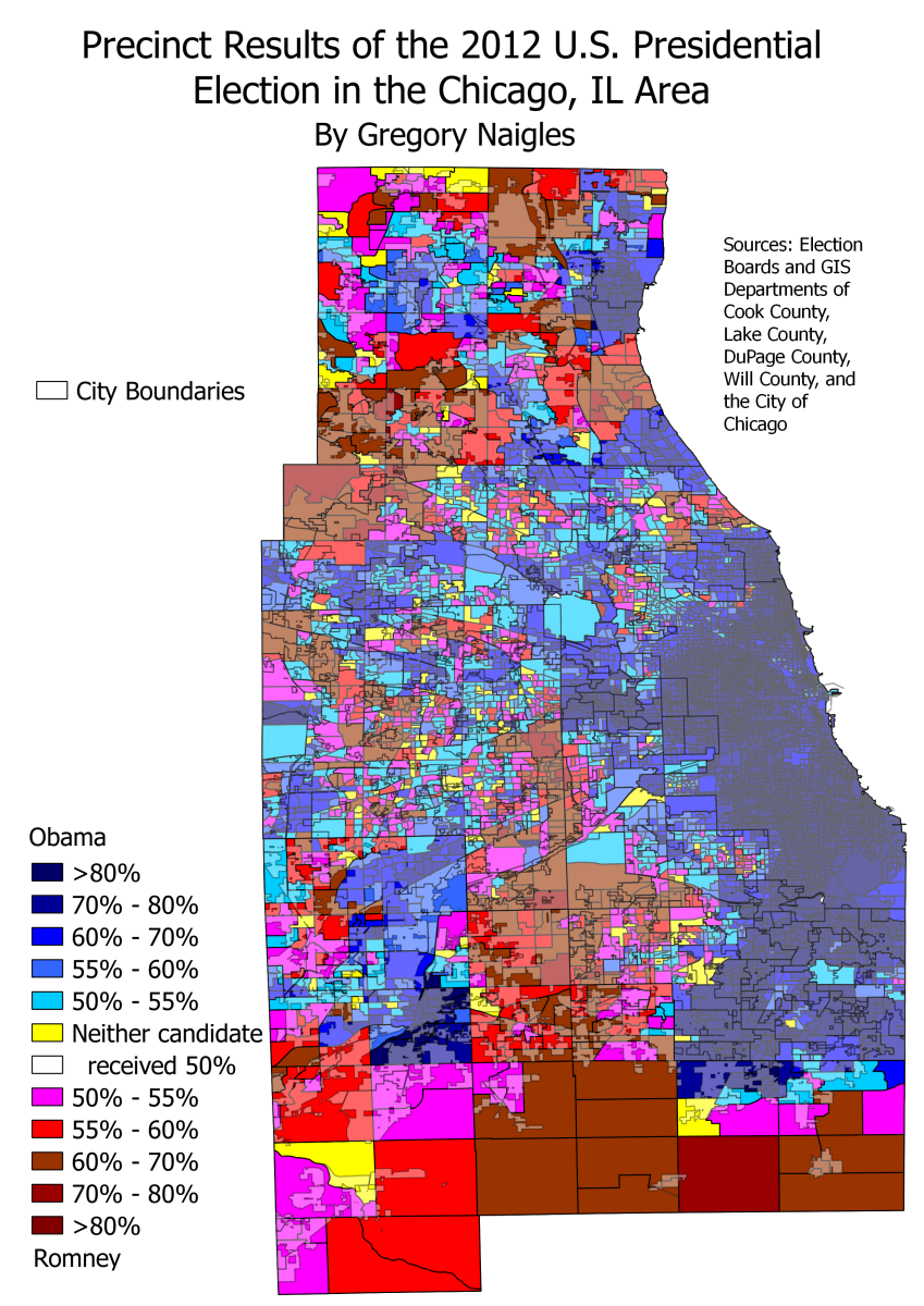 United States Presidential Election  Wikipedia United States - Chicago map by county