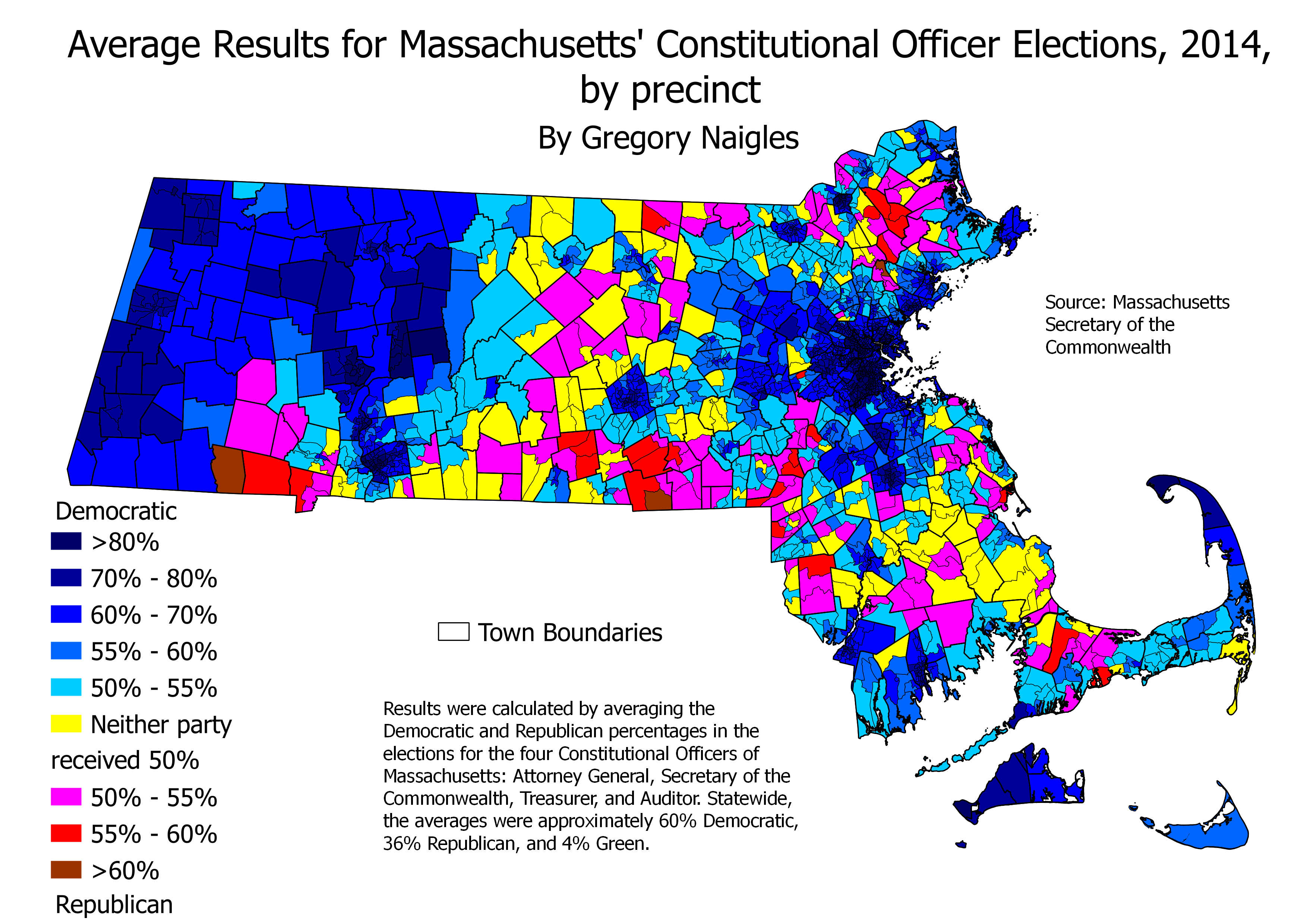 Maps and Analysis of Massachusetts Constitutional Officer