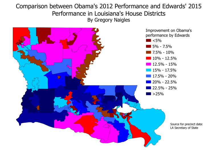 LA 15Gov by HD compared to 12Pres by HD