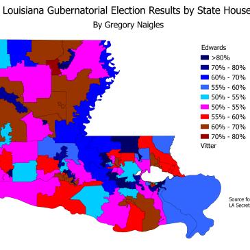 David Vitter Gregory Naigles - Hd us election map