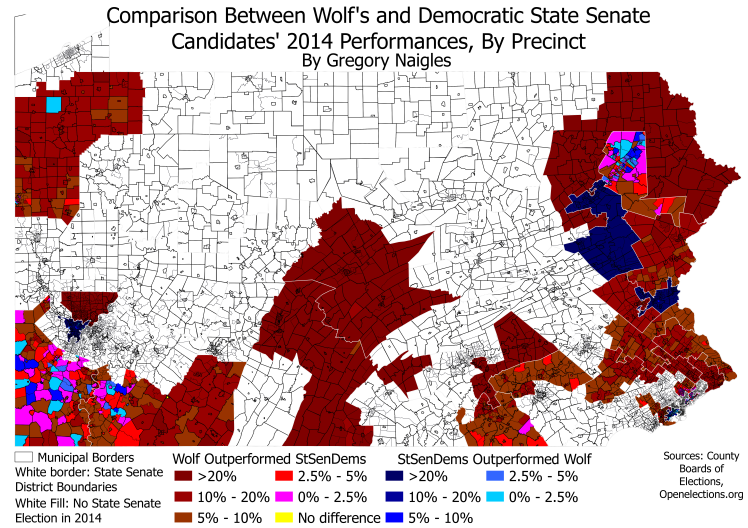 PA 14StSen compared to 14Gov