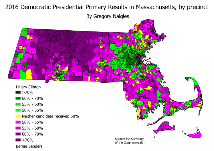 MA 16PrezPrimDem precinct results