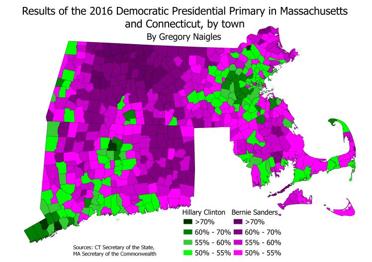 CT&MA 16PrezPrimDem results