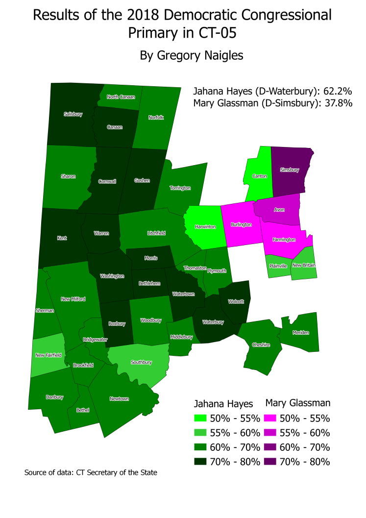CT 18Primary CT05 Dem results