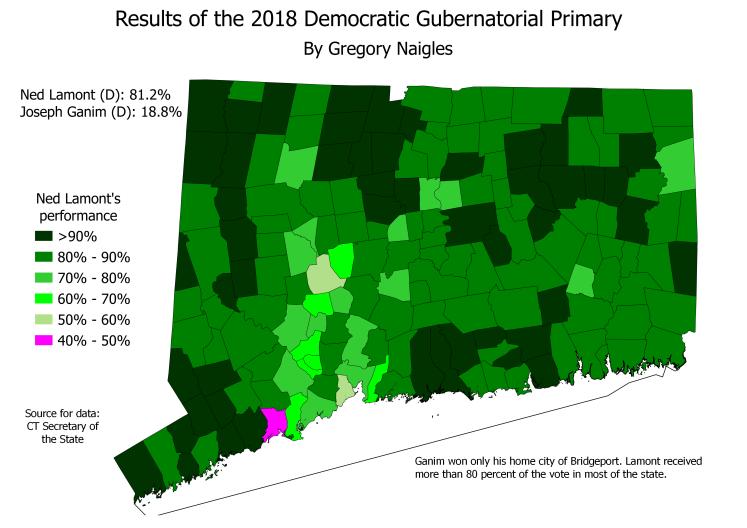 CT 18Primary GovDem results