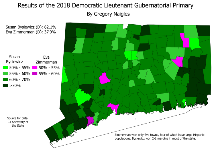 CT 18Primary LGDem results