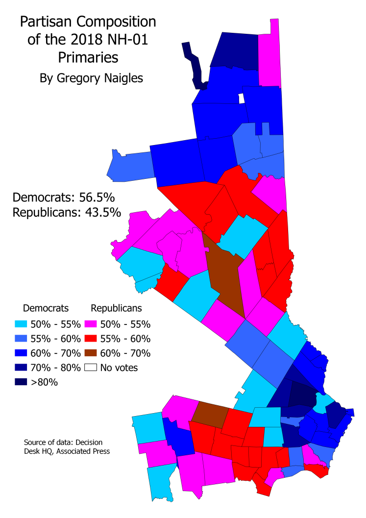 NH 18Primary CD01 partisan composition
